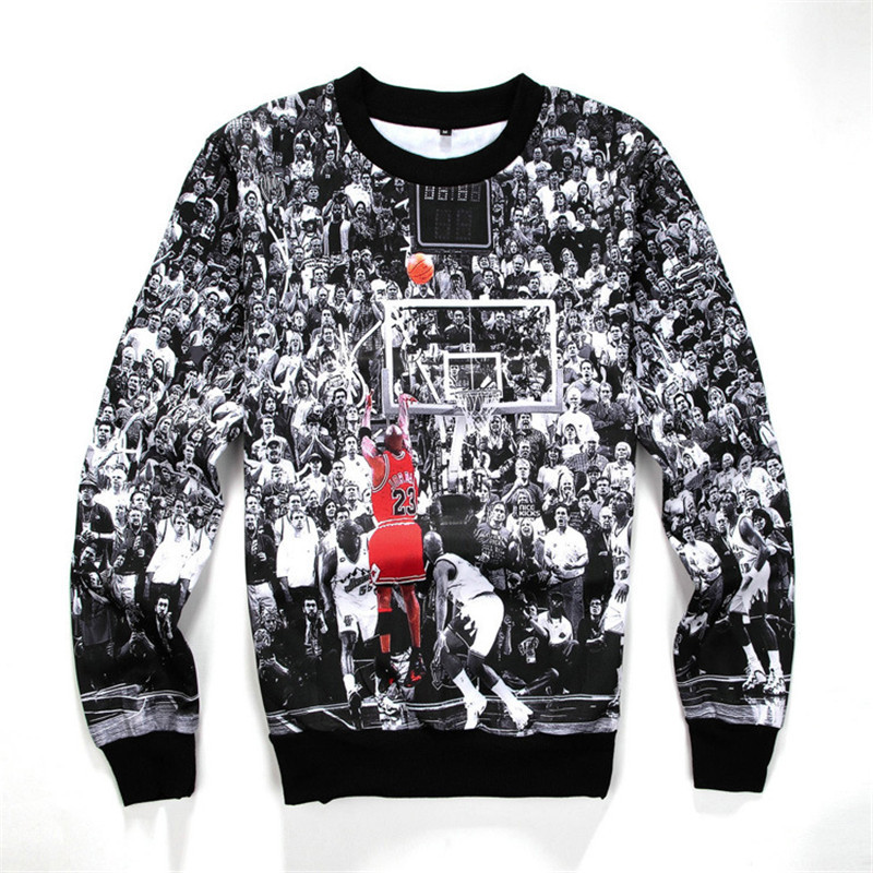 398c3b38c7d1 Alisister 2015 new women men s sweatshirt 3D print basketball all-star game  hoodies pullover