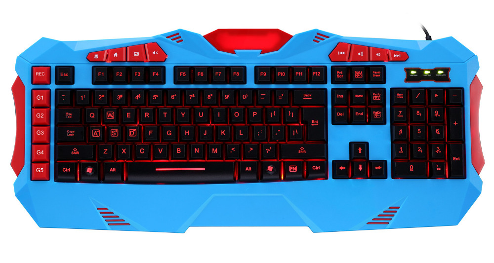 Alibaba Hot Multimedia Membrane Keyboard for Gaming 1.8m Braided Cooper Wire 10 Million of Keystroke Custom Supported