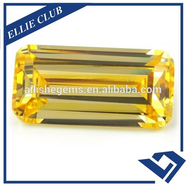 Wuzhou Aaa Customizing Emerald Cut Cz Price Per Carat Gems