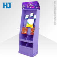 POS customized cardboard hook displays, promotional paper pegboard hooks display for accessories