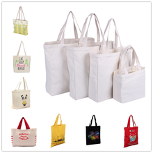 Manufacturer naturally custom print cotton canvas tote shopping bag