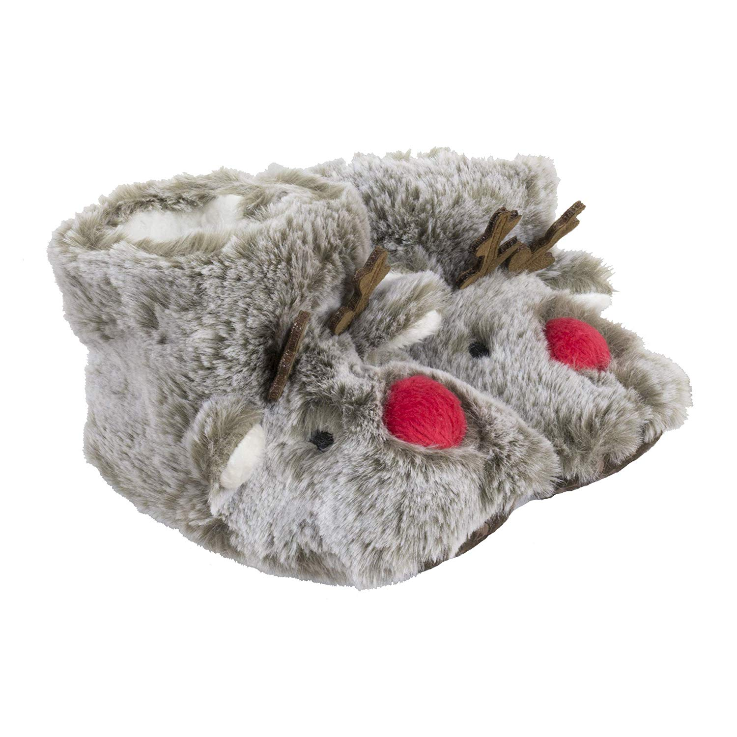 cfce91df298e Get Quotations · Joules Baby Christmas Character Slippers - Rudolf