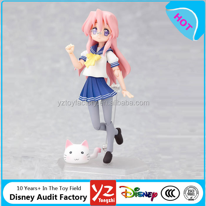 wholesale figma cartoon figure lucky star Takara Miyuki summer uniform movable action figure