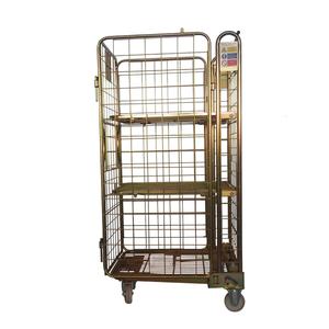 Wholesale folding metal rolling warehouse cage