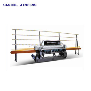 JFB-361SJ 10 Motors glass mirror straight line beveling machine for 25x25mm small size glass