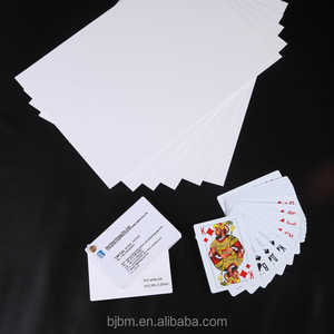 High Quality Blank Inkjet PVC Playing Card