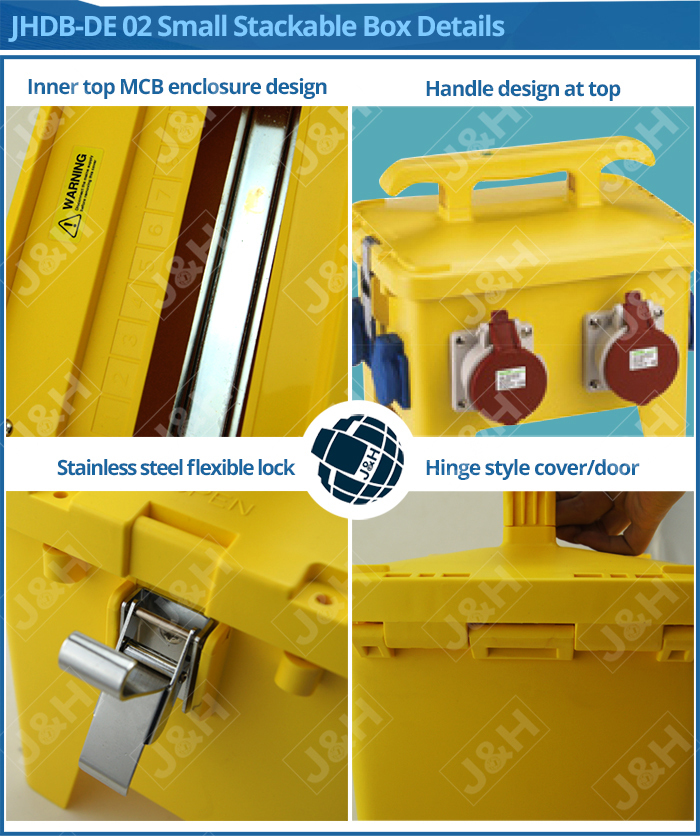 customised outdoor portable plastic box, black and yellow China supply waterproof PC plastic box