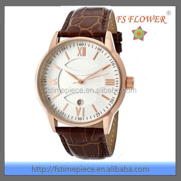 FS FLOWER - Leather Watch Bands Mens Watches UK