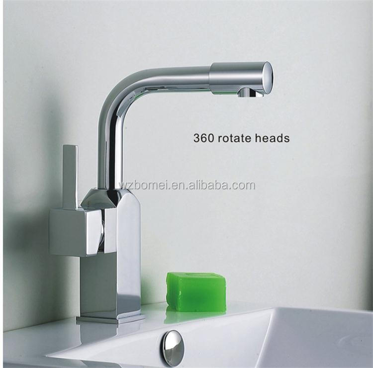 rotating kitchen faucet with 2*50cm hoses kitchen water tap