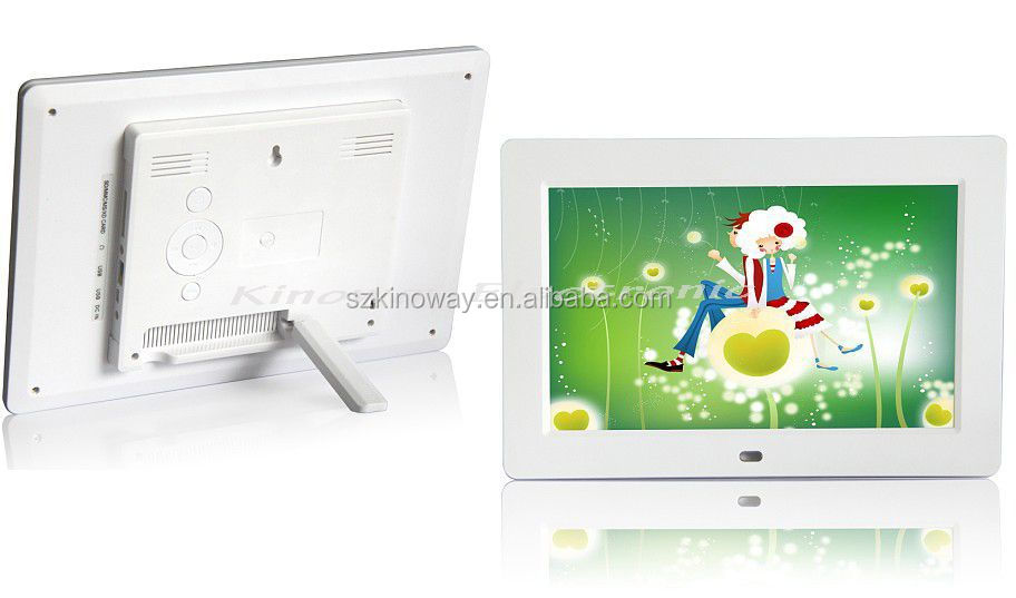 hot seller!10.2 inch TFT LCD, 1024*600,16:9 Remote control/MP3/MP4 digital frame photo