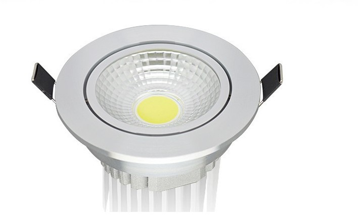 Free Shipping 15W COB LED Down Light with CE & RoHS Approval 90~100 LM/W AC85~265V LED Recessed Ceiling Downlight