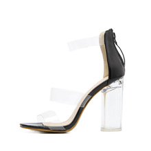 Fashion design elegant block diamond crystal ultra high heel shoes