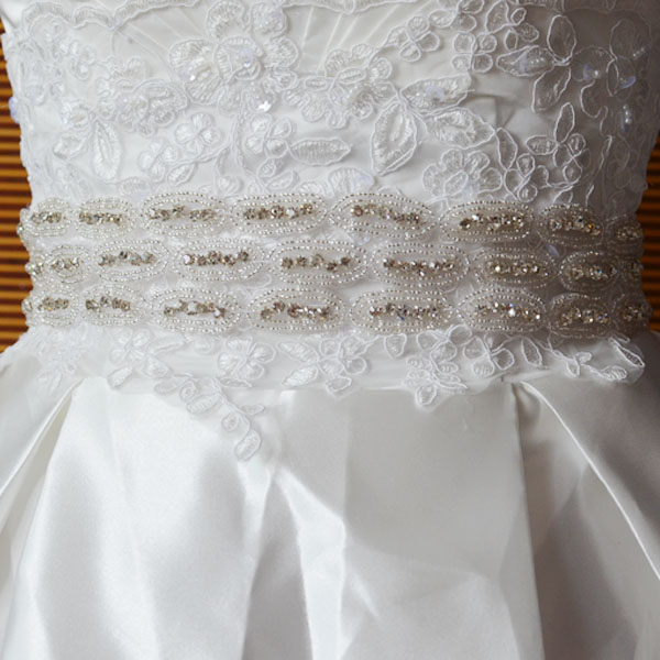 Best selling products women waist lace belt for party dresses beaded slimming bowknot women bridal belt Sash