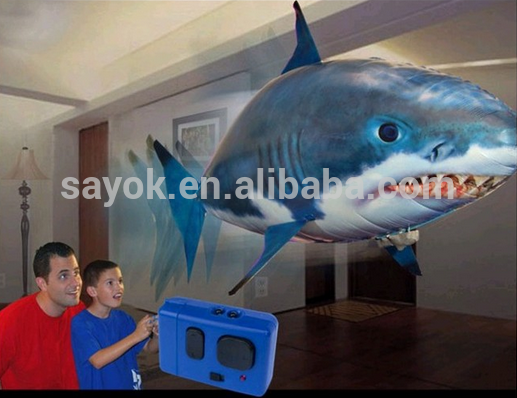 Remote control inflatable flying fish,helium rc flying shark toys
