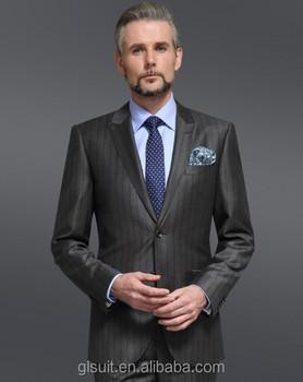 Super 130\'s 100% Wool Dark Grey Two Buttons Best Price Men\'s Coat ...