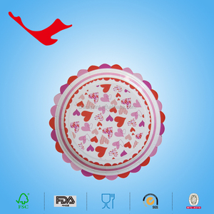 wedding decorations disposable tableware of printed paper plate