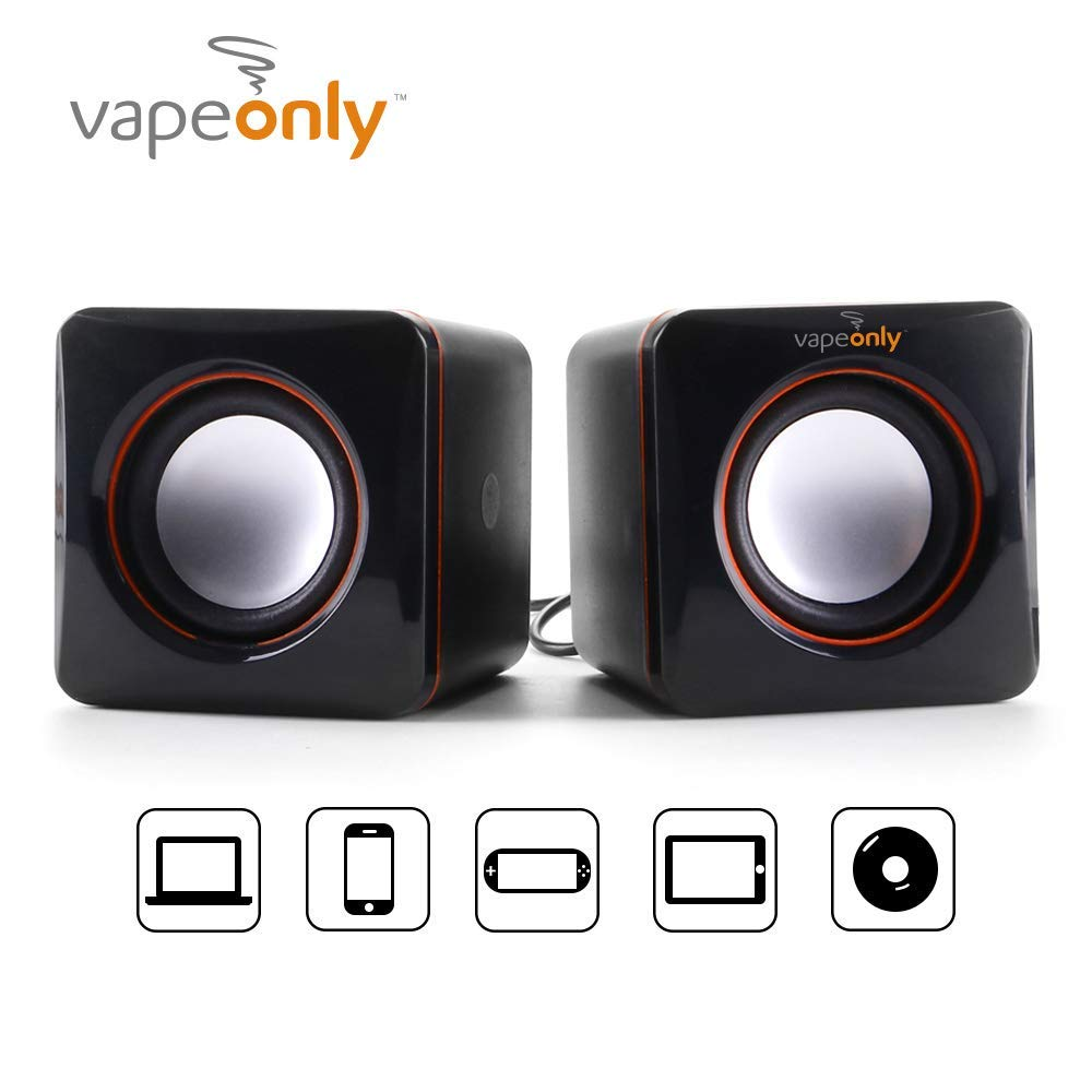Vapeonly Mini Portable USB Stereo Speakers Line Controller Sound Bar Laptop PC Desktop Tablet Subwoofer Loudspeaker Mini Speakers Desktop Computer