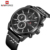 Men's Sports Watches NAVIFORCE Luxury Brand Men Quartz 24 Hour Date Wrist Watch Men Waterproof Leather Clock Relogio Masculino