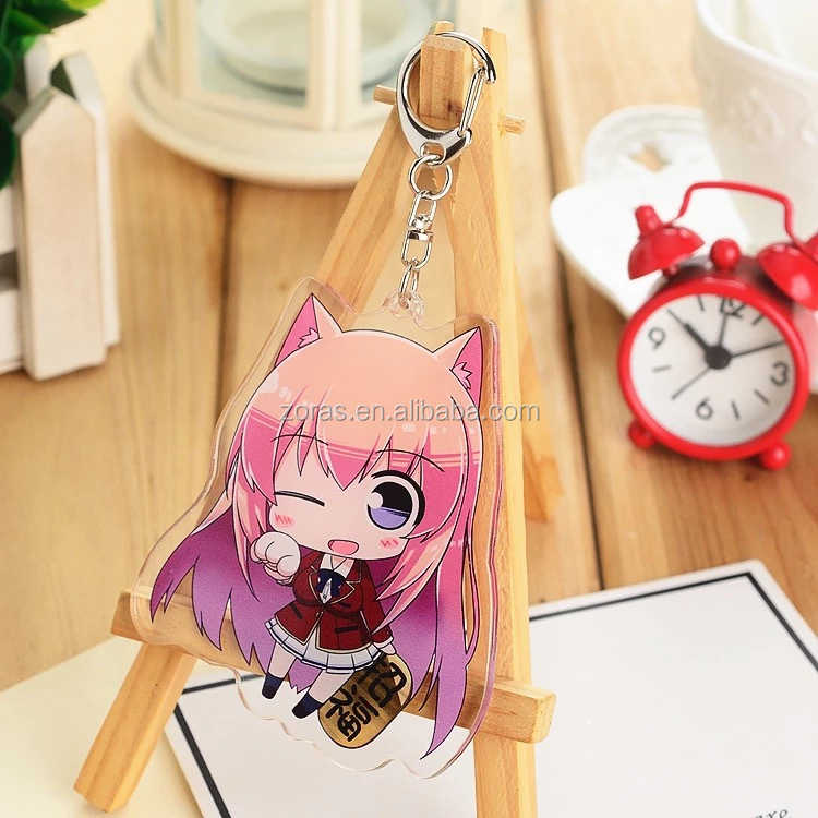Wholesale MOQ 1PC Fast 3 days Delivery Custom Anime Acrylic Keychain