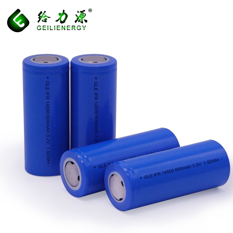 Non-pollution In line with ROHS instructions 14500 LiFePO4(LFP) Battery Cell 3.2v 600mAh