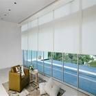 sunscreen fabric manual roller blinds window curtain