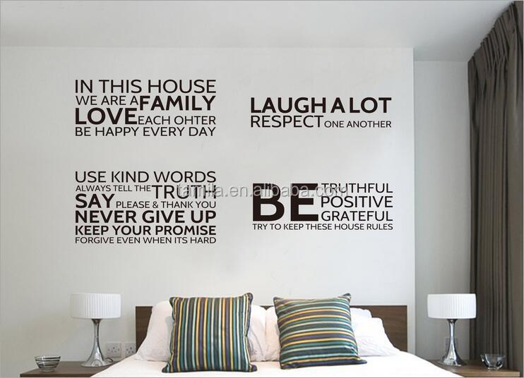 Dans Cette MaisonNous Faisons Maison Rgles Citation Stickers