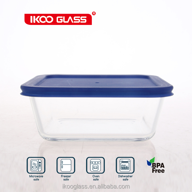 snap lid round glass container lunch box