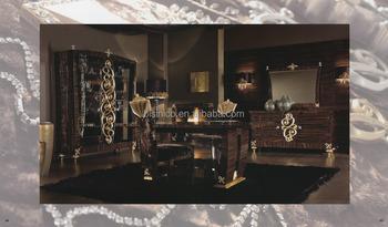 romantique gothique style salle manger table manger chaise buffet avec miroir et