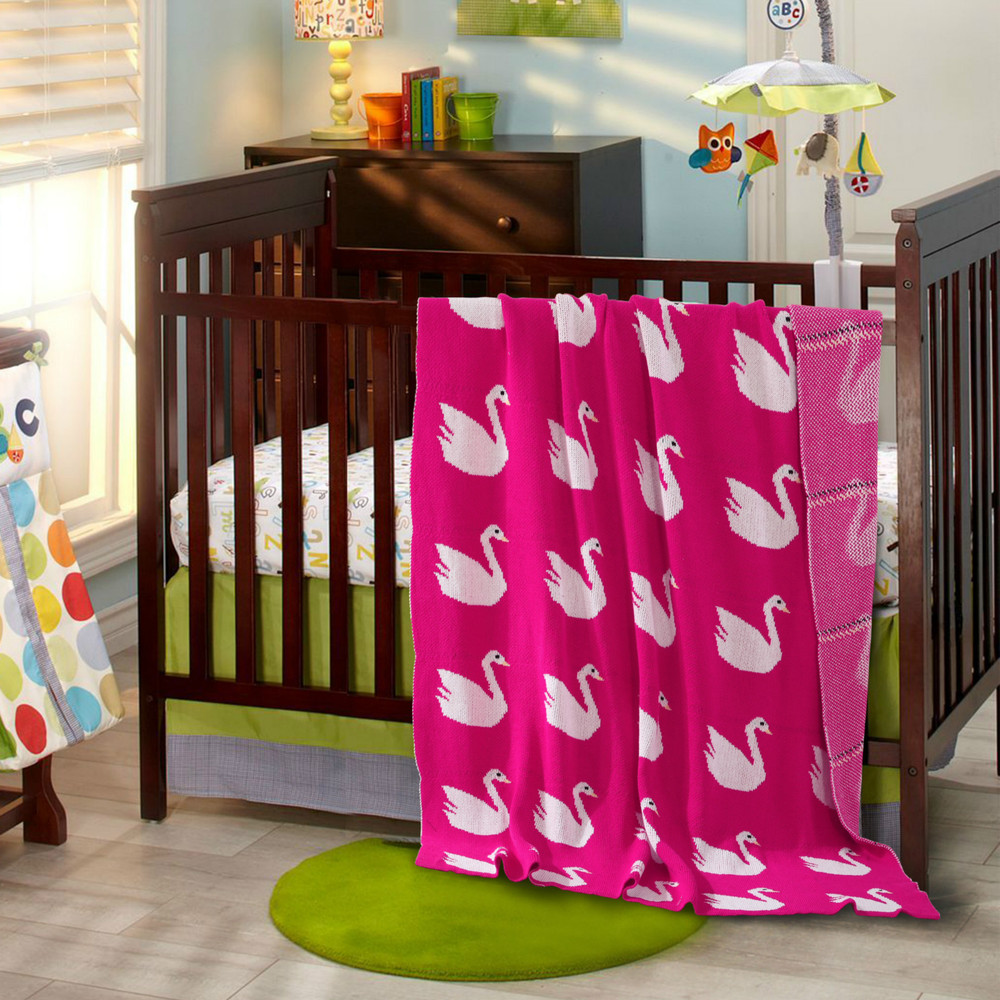 Echo Baby Bedding - Baby kids toddler echo park swan blanket carpet baby blanket double layer thickening air conditioning baby