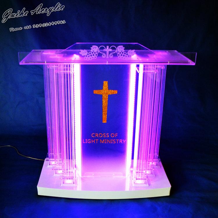 Guiheyun Grand Acrylic Church Podium Plexiglass Pulpit
