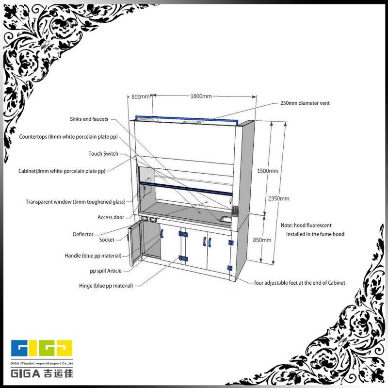 laboratory furniture    lab chemistry fume hood    fume