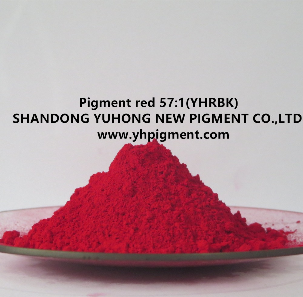 Red pigment for plastic and rubber 57:1