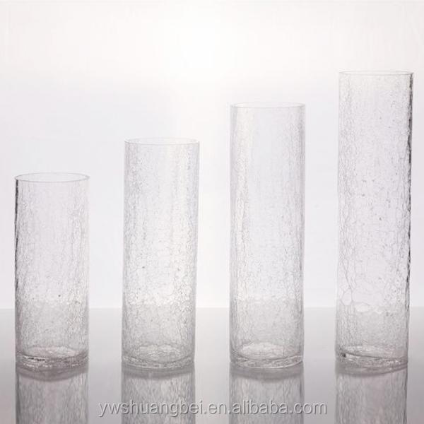 Bon Vase En Verre Pas Cher #6: Pas Cher Gros Blanc Fissure Vase En Verre Pour La Décoration Grand Cylindre  De Fissure Vase
