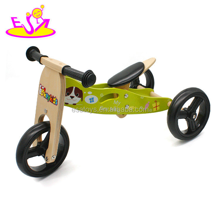 new design 2 IN 1 wooden3 wheel balance bike for 2 year old W16C098