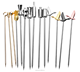 100% Food Grade Stainless Steel Creative Cocktail Decoration Fruit Stick Martini Picks Reusable Olive Picks