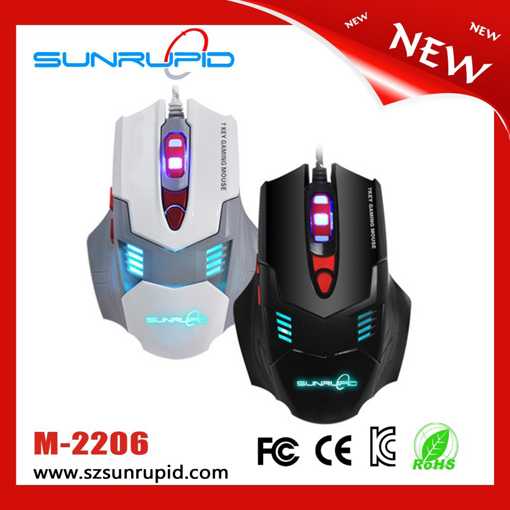 7D Backlit Gaming Mouse, 7 Programmable Buttons, up to 2800 DPI, 5 User Profiles