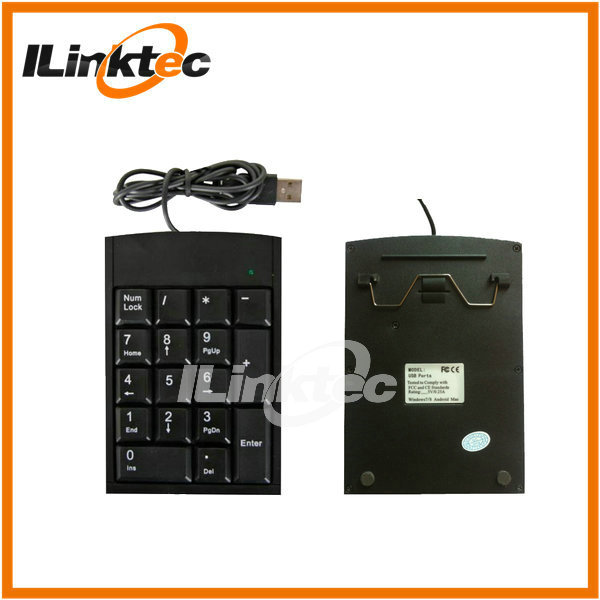 Hot mini wired usb waterproof numeric keypad