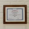 High quality custom Dark brown A4 wooden graduation frame certificate photo picture frame