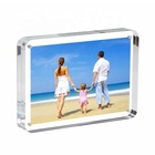 6 *8 inches round Acrylic magnetic photo frame