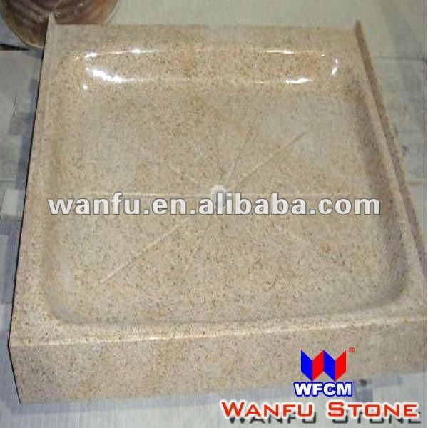 Polished Rust Stone Granite Deep Shower Tray Resin Stone Base Design   Buy  Deep Shower Tray,Stone Resin Shower Base,Natural Stone Shower Base Product  On ...