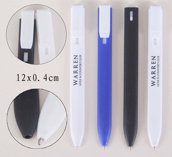Cheap flat bookmark ballpoint pen
