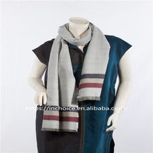 Mens Womens Light Weight Knit Oversized striped scarf Autumn And Winter
