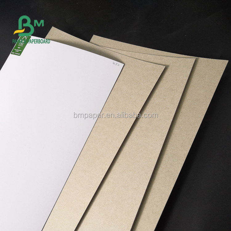 Super Smooth 230gsm 250gsm 300gsm Clay Coated Paper Grey Back For Packing Box