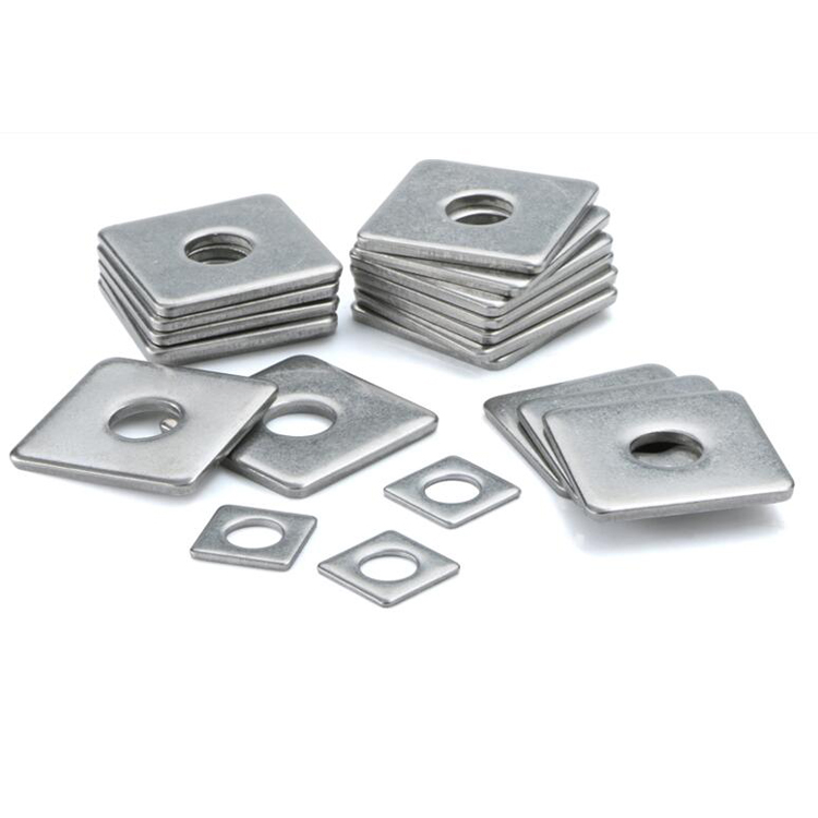 "1//2/"" Square Beveled Malleable Washer Malleable Iron Plain Finish"
