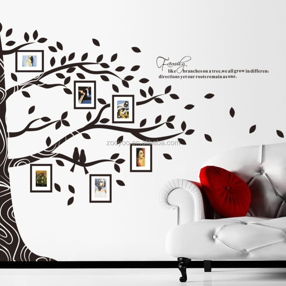 Tree wall decals large personalized family tree decal vinyl wall decal - Custom Made Family Tree Wall Decals Large Mural Vinyl Sticker