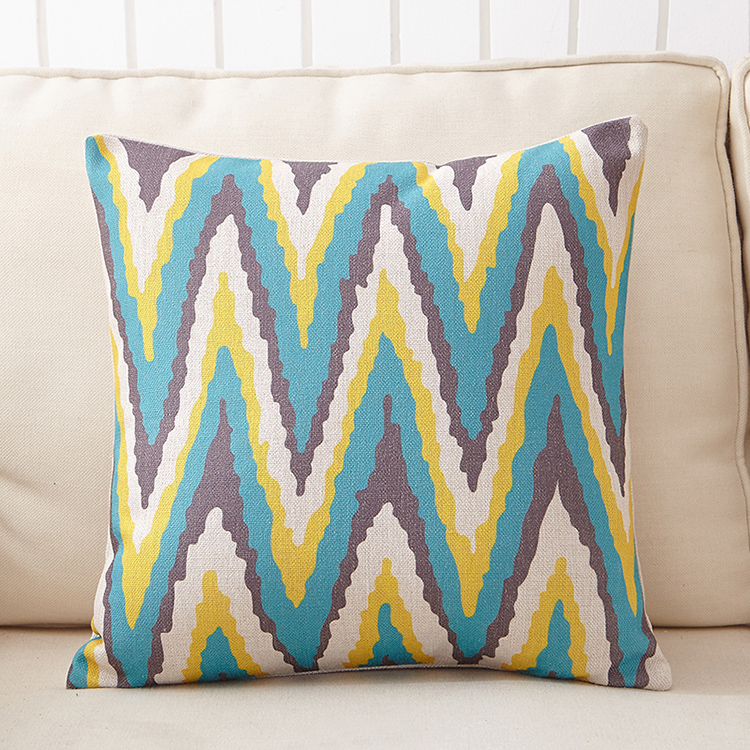 Custom print decorative hotel linen throw pillow cover