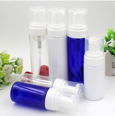 free samples transparent white plastic PET foaming pump bottle 100ml 120ml 150ml 200ml