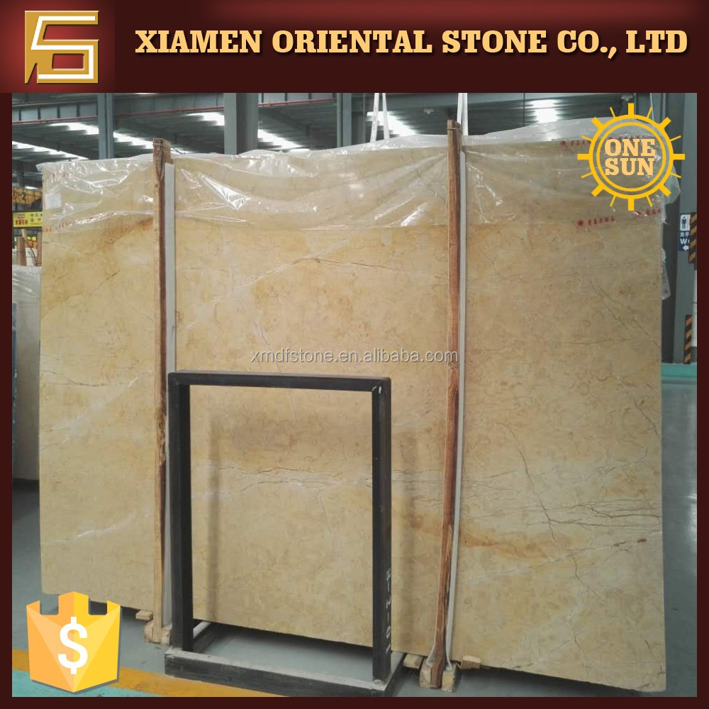 natural gold rose yellow marble slabs for restaurant design - buy