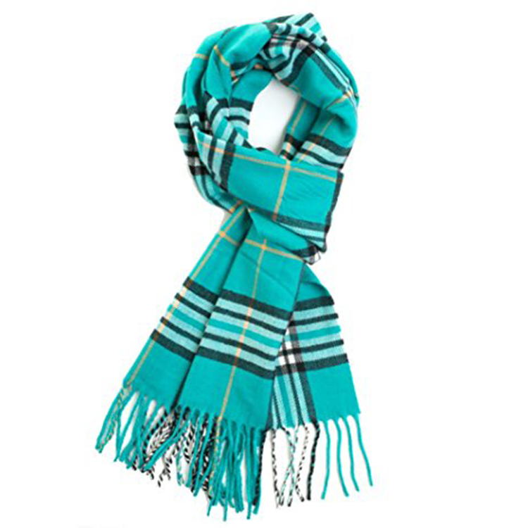 Winter 100% Polyester Scarf Cotton Scarf With Tassels Custom Printed Silk Scarves