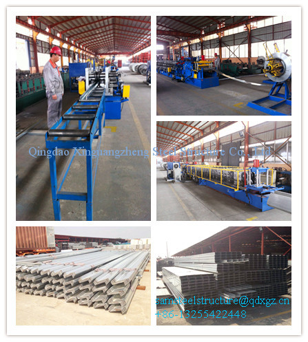 prefab galvanized steel roof structure warehouse